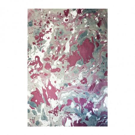 arta marmorizzata realizzata a mano dai colori grigio e viola Violetta - Conti Borbone - Milano Italy