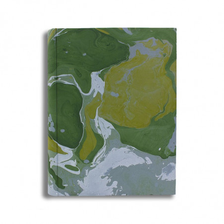 Photo album Foresta in marbled paper green, yellow and white - Conti Borbone - standard