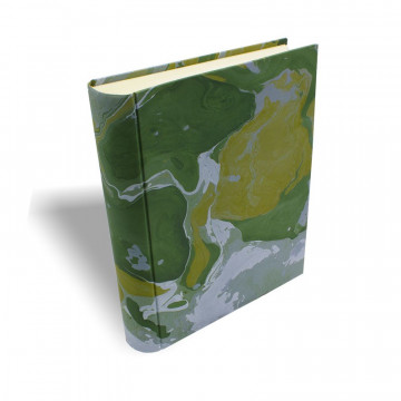 Photo album Foresta in marbled paper green, yellow and white - Conti Borbone - standard - prospective