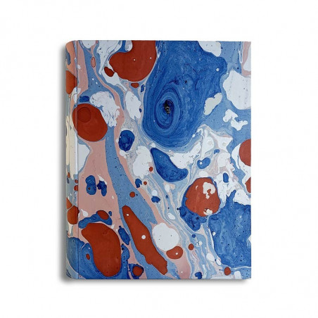 Photo album Anna in marbled paper blue, red and white - Conti Borbone - standard
