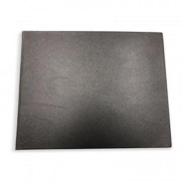 Libro ospiti Night in pelle saffiano nero - Conti Borbone - fronte