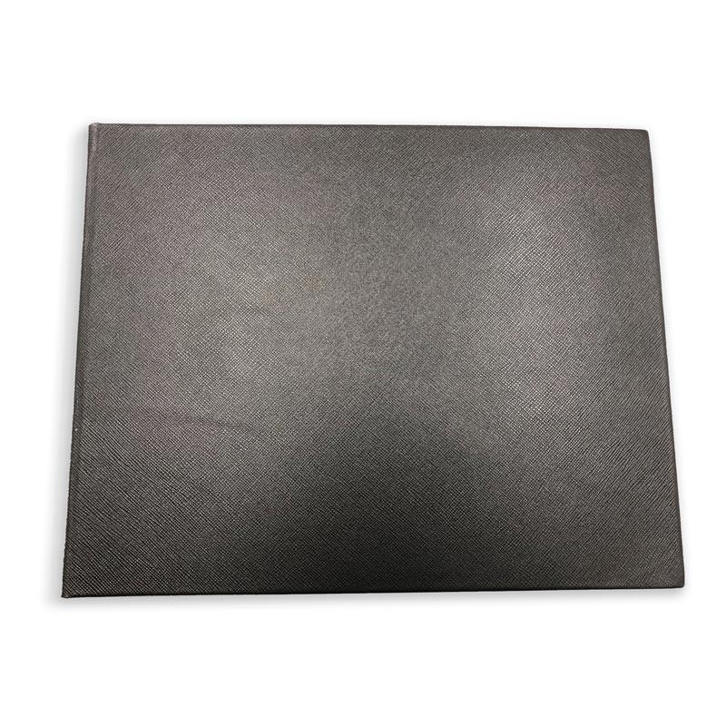 Luxury black saffiano leather guest book - Conti Borbone - front