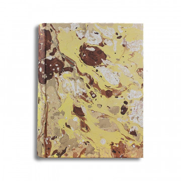 Photo album Jerome in marbled paper brown, beige, yellow and white - Conti Borbone - standard