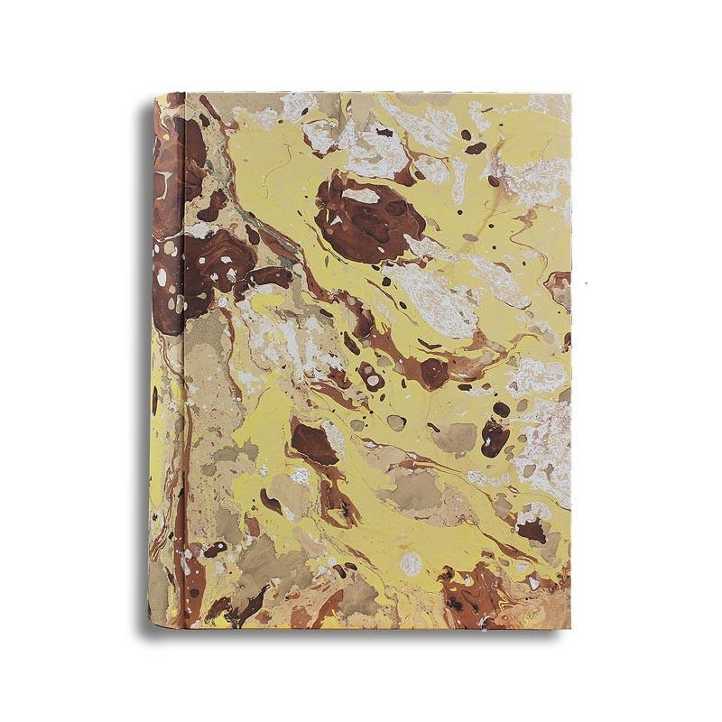 Album foto Jerome in carta marmorizzata color marrone, beige, giallo e bianco - Conti Borbone - standard