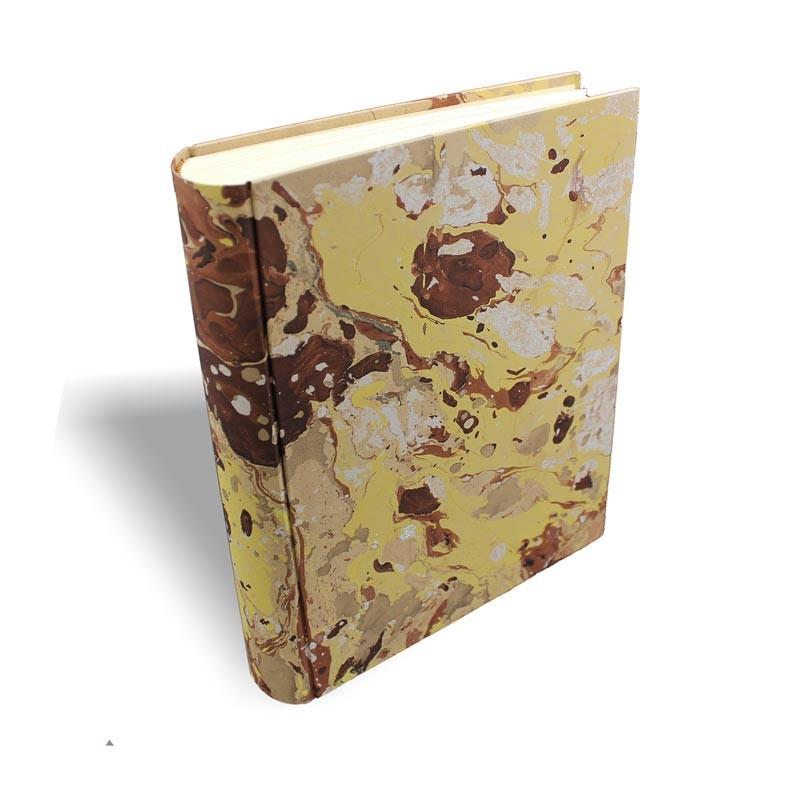 Album foto Jerome in carta marmorizzata color marrone, beige, giallo e bianco - Conti Borbone - standard dorso