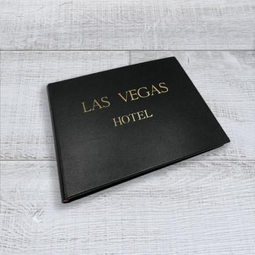 Libro ospiti Night in pelle saffiano nero - Conti Borbone - esempio
