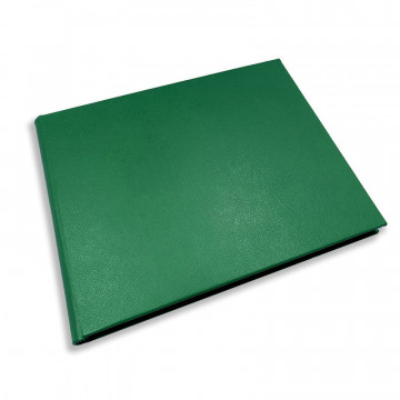 Luxury green saffiano leather guest book Forest - Conti Borbone - Perspective