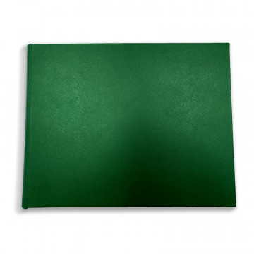 Lussuoso libro ospiti Forest in pelle saffiano verde - Conti Borbone - fronte
