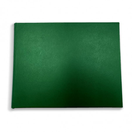 Luxury green saffiano leather guest book Forest - Conti Borbone - front