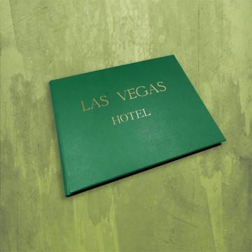 Lussuoso libro ospiti Forest in pelle saffiano verde - Conti Borbone - esempio