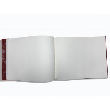 Lussuoso libro ospiti Sun in pelle saffiano rosso - Conti Borbone - pagine bianche