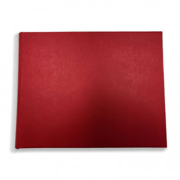 Luxury red saffiano leather guest book Sun - Conti Borbone - front