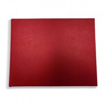 Luxury red saffiano leather guest book Sun - Conti Borbone - front