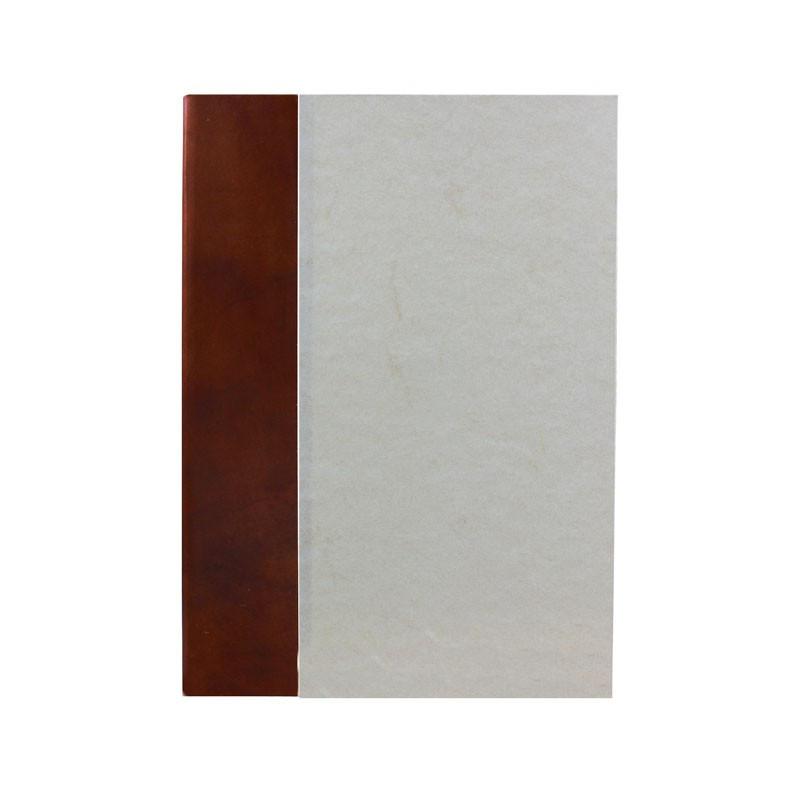 Libro ospiti Ancient Brown in mezza pelle marrone e carta pergamena antichizzata - Conti Borbone