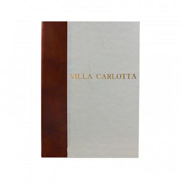 Libro ospiti Ancient Brown in mezza pelle marrone e carta pergamena antichizzata - Conti Borbone - Stampatello