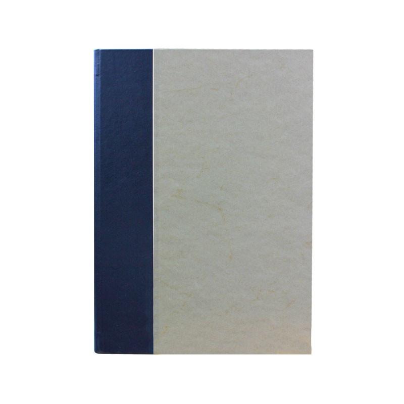 Libro ospiti Navy in mezza pelle blu e carta pergamena antichizzata - Conti Borbone