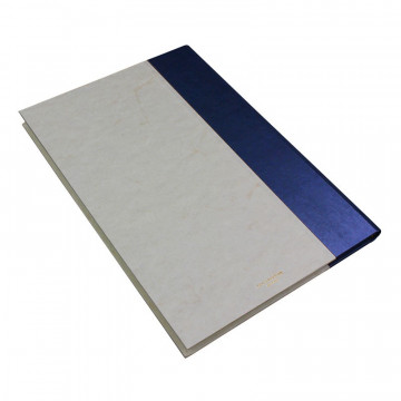 Libro ospiti Navy in mezza pelle blu e carta pergamena antichizzata - Conti Borbone - Brand