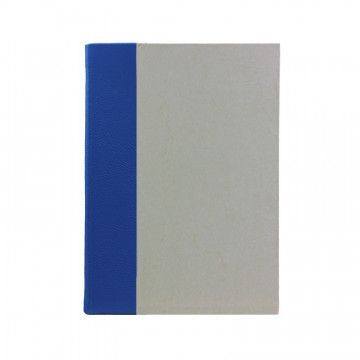 Cobalto guest book in blue leather and antique parchment paper - Conti Borbone