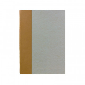 Beige guest book in beige leather and antique parchment paper - Conti Borbone