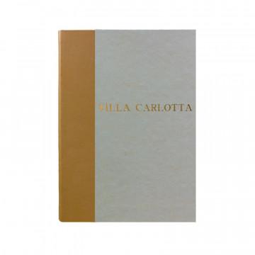 Libro ospiti Beige in mezza pelle beige e carta pergamena antichizzata - Conti Borbone - Stampatello
