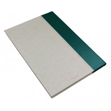 Pino guest book in green leather and antique parchment paper - Conti Borbone - Brand