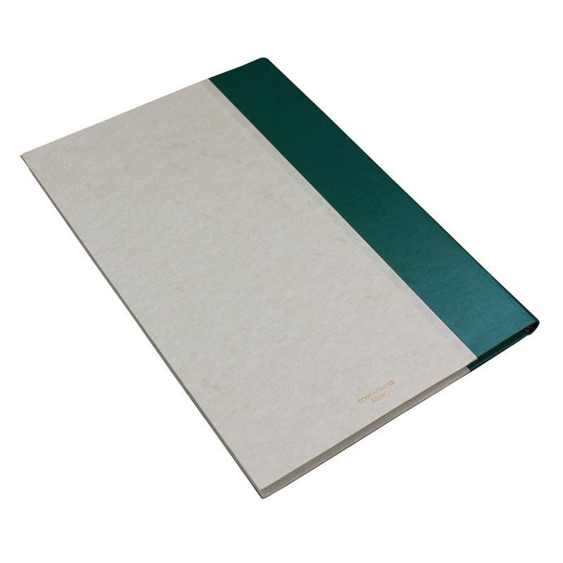 Libro ospiti Pino in mezza pelle verde e carta pergamena antichizzata - Conti Borbone - Brand