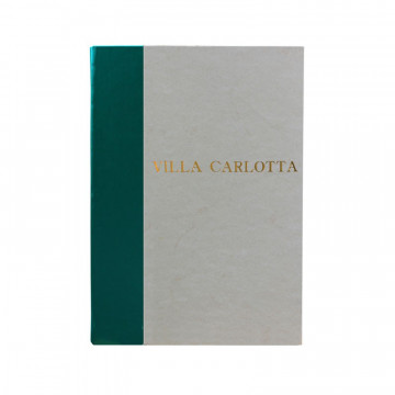 Pino guest book in green leather and antique parchment paper - Conti Borbone - Block letters