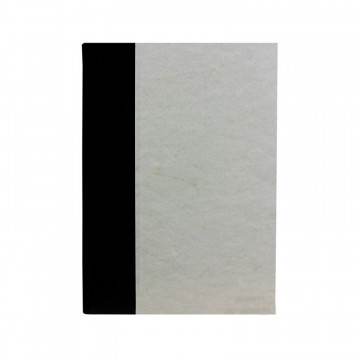 Dark guest book in black leather and antique parchment paper - Conti Borbone