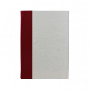 Libro ospiti Rubino in mezza pelle bordeaux e carta pergamena antichizzata - Conti Borbone