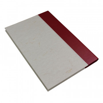 Libro ospiti Rubino in mezza pelle bordeaux e carta pergamena antichizzata - Conti Borbone - Brand