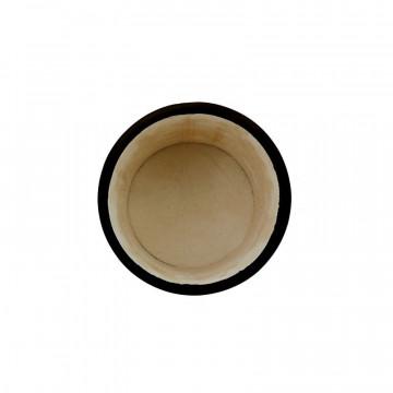 Portapenne in pelle Dark - Conti Borbone - porta penne in pelle di vitello nero alto
