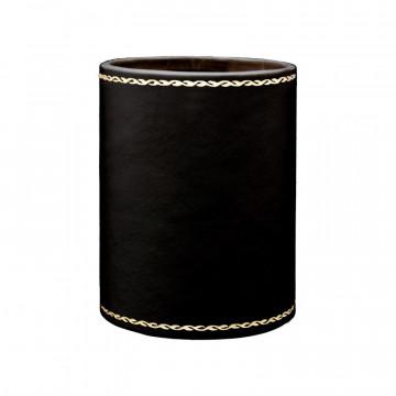 Portapenne in pelle Rubino - Conti Borbone - porta penne in pelle di vitello bordeaux stampa oro 90