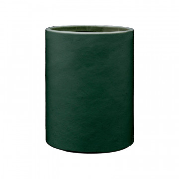 Pino leather pen holder - Conti Borbone - Pen holder in green calf leather