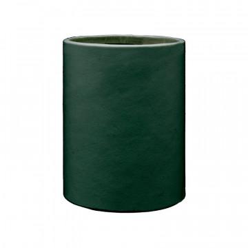 Pino leather pen holder - Conti Borbone - Pen holder in green calf leather