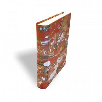 Photo album in marbled paper brown green orange Carmen - Conti Borbone - Spine standard