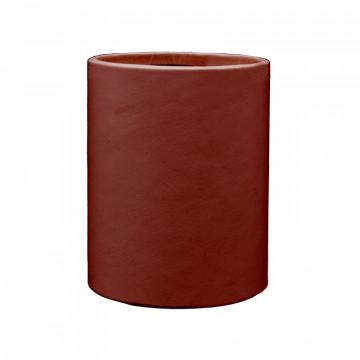 Portapenne in pelle rosso fragola - Conti Borbone - porta penne in pelle di vitello rosso fragola