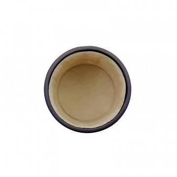 Aubergine leather pen holder - Conti Borbone - Pen holder in violet calf leather high