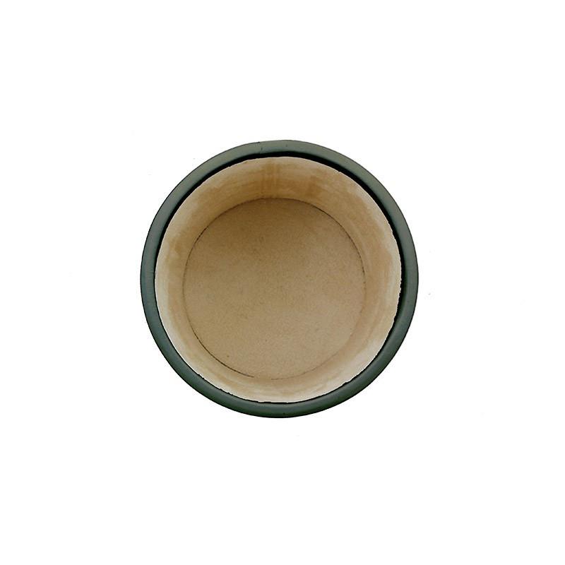 Portapenne in pelle Graffite - Conti Borbone - porta penne in pelle di vitello grigio alto