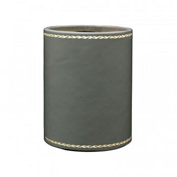 Portapenne in pelle Graffite - Conti Borbone - porta penne in pelle di vitello grigio decorazione 90
