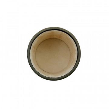 Portapenne in pelle Antracite - Conti Borbone - porta penne in pelle di vitello grigio alto