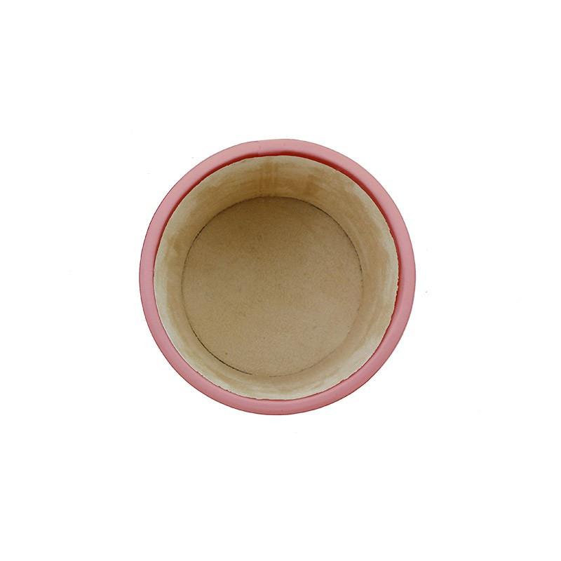 Portapenne in pelle Camelia - Conti Borbone - porta penne in pelle di vitello rosa alto