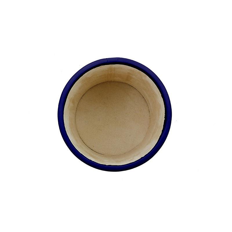 Portapenne in pelle Bluette - Conti Borbone - porta penne in pelle di vitello blu alto