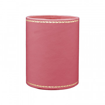 Fuchsia leather pen holder - Conti Borbone - Pen holder in fuchsia calf leather gold decoration 90