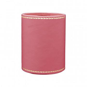 Fuchsia leather pen holder - Conti Borbone - Pen holder in fuchsia calf leather gold decoration 90
