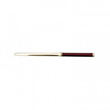 Tagliacarte in pelle Rubino - Conti Borbone - Taglia carte in pelle di vitello bordeaux