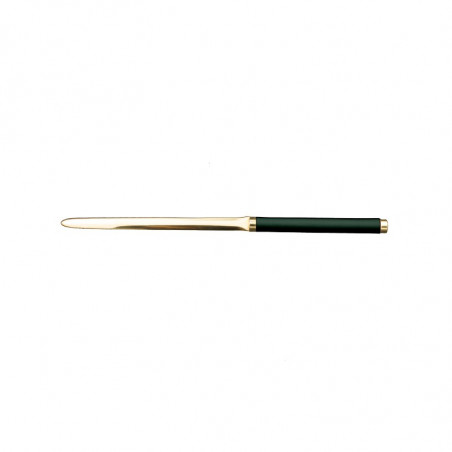 Pino Leather knife - Conti Borbone - Paper knife in green calf leather