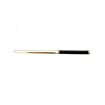 Dark leather knife - Conti Borbone - Paper knife in black calf leather