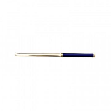Tagliacarte in pelle Bluette - Conti Borbone - Tagliacarte in pelle di vitello blue