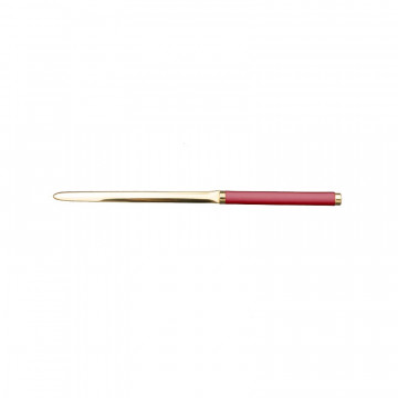 Fuchsia leather knife - Conti Borbone - Paper knife in pink calf leather