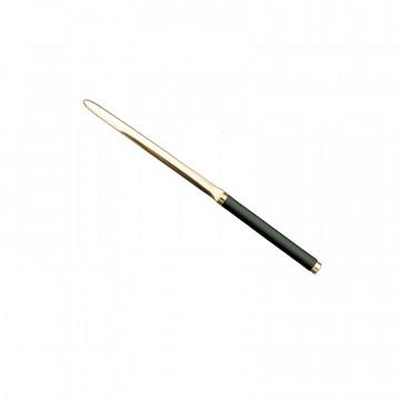 Graphite leather knife - Conti Borbone - Paper knife in gray calf leather profile